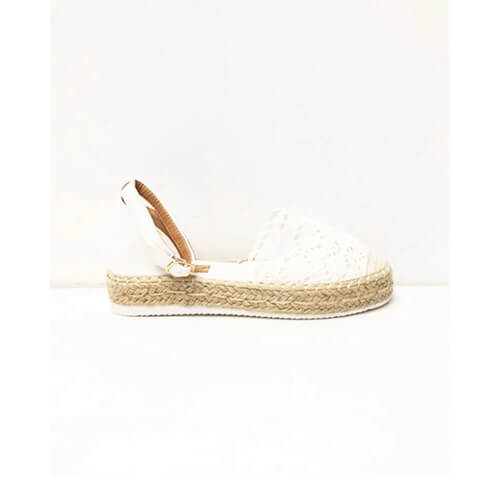 Espadrilles broderie off-white