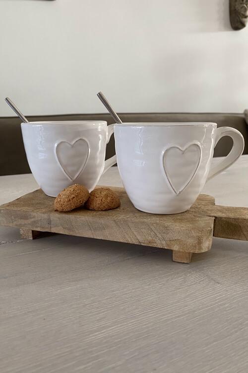 Cappuccino mokken met hart