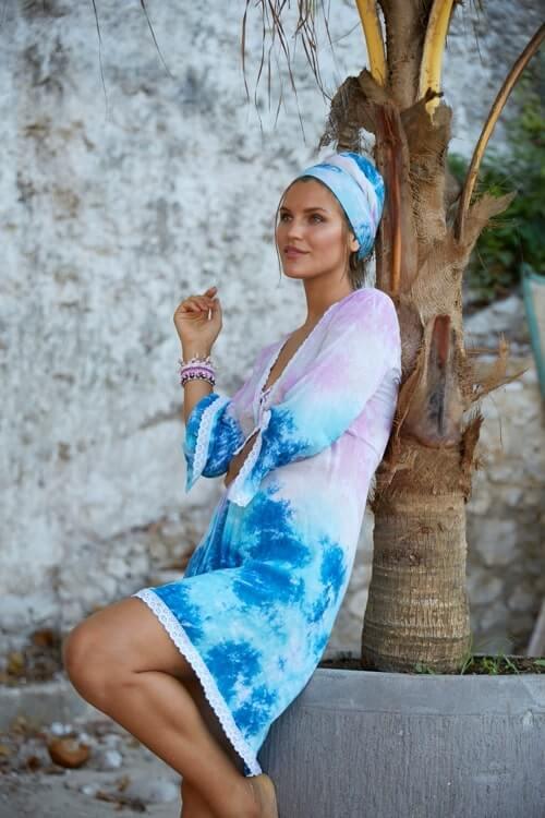 Hot Lava tunic SK tie dye