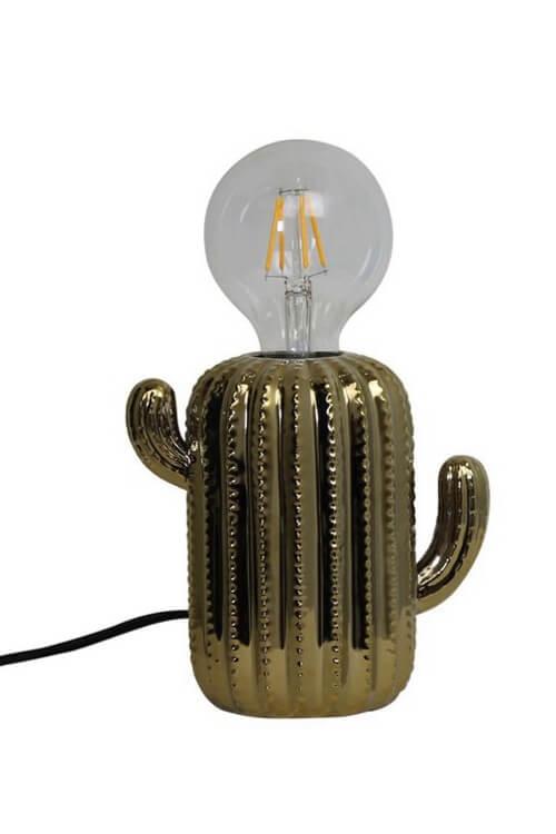 Housevitamin cactus lamp goud