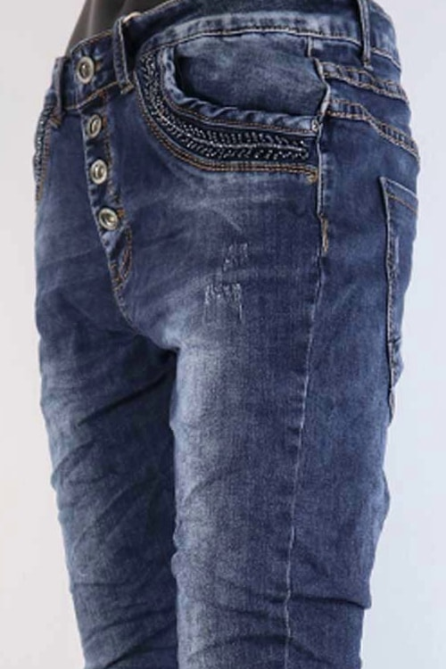 Jewelly jeans blauw