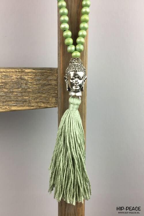 Ketting Buddha groen