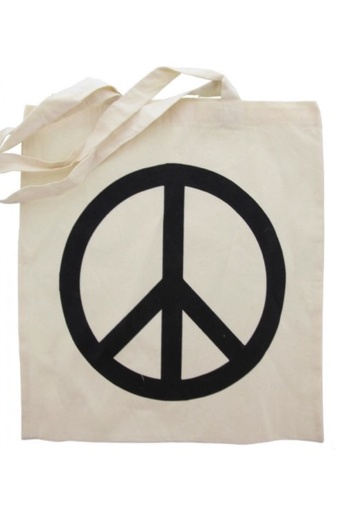 Tote bag peaceteken