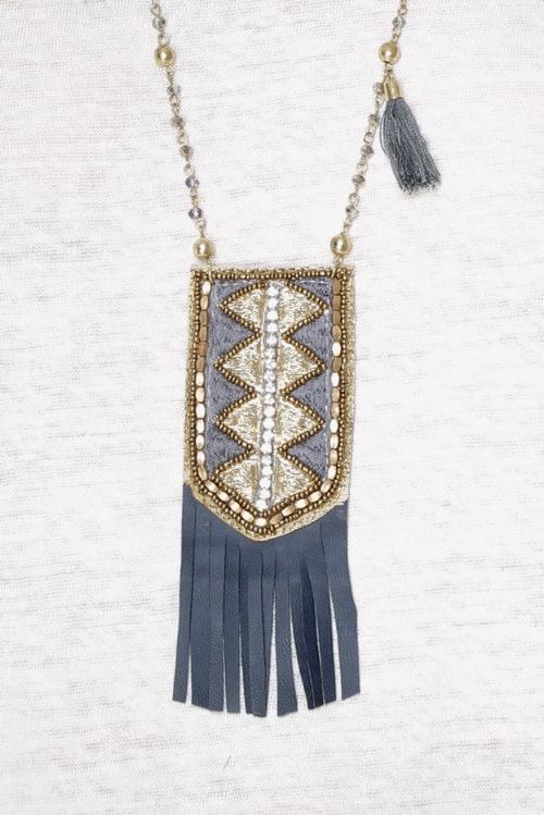 Meisie-necklace bohemian blue