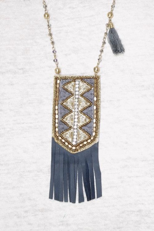 Meisie-necklace bohemian blue