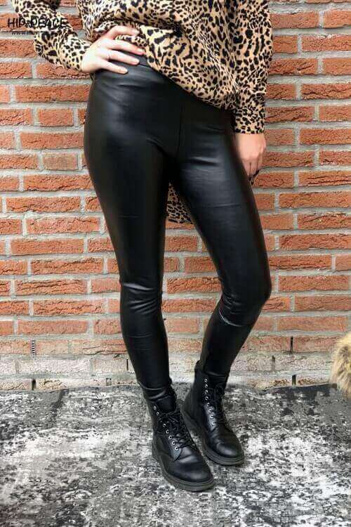 Norfy leather look legging black