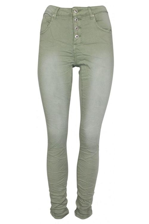 Place du Jour jeans licht army 90109