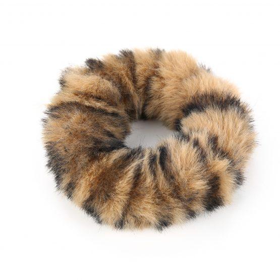 Scrunchie leopard pluche