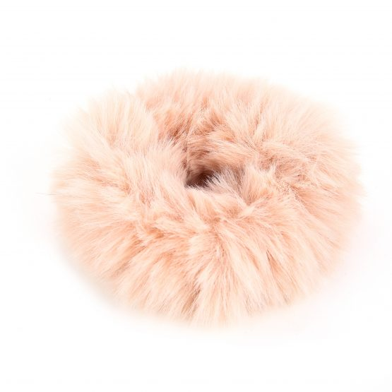 Scrunchie fluffy lichtroze