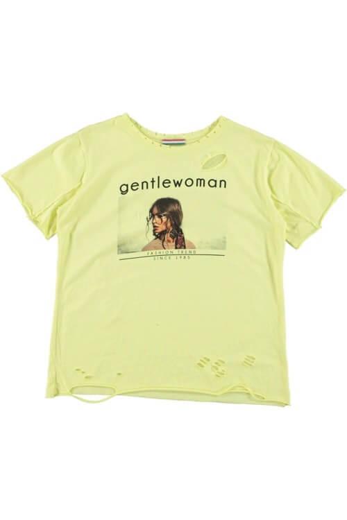 T'shirt Gentle Woman geel