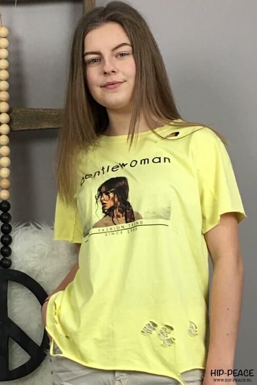 Tshirt Gentil Woman geel
