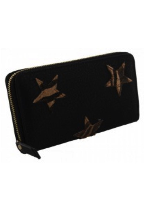 Wallet stars-brown