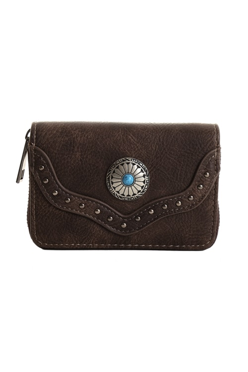 Bohemian wallet brown