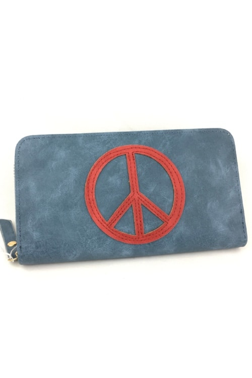 Wallet peace blue red