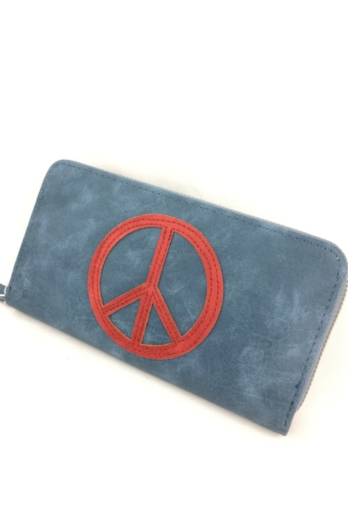 Wallet peace blue red1