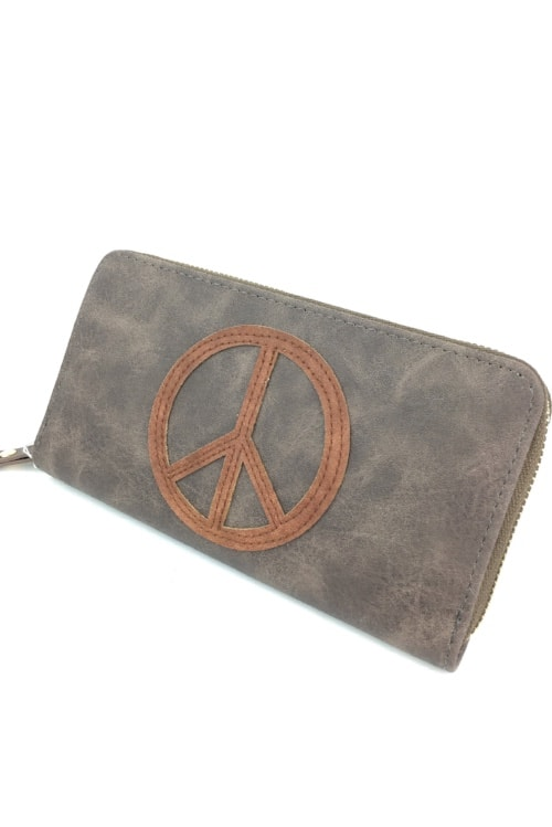 Wallet peace brown1