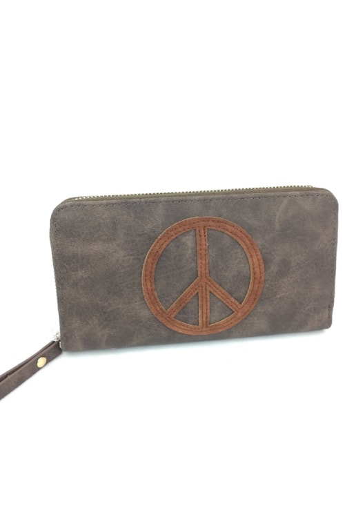Wallet peace brown2