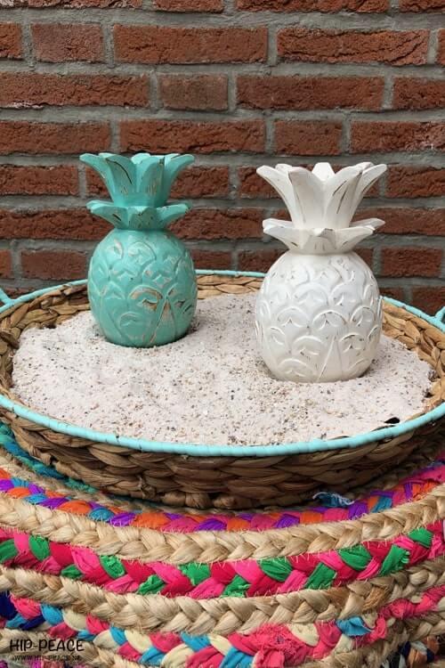 Houten ananas ibiza style