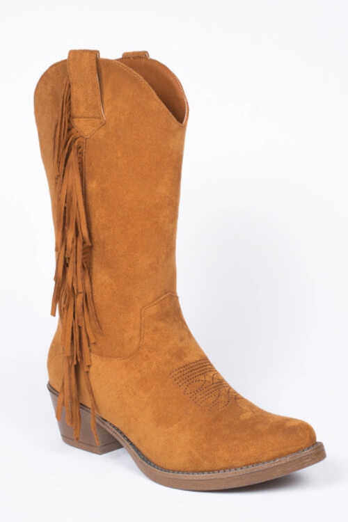 Hip-Peace fringes boots camel