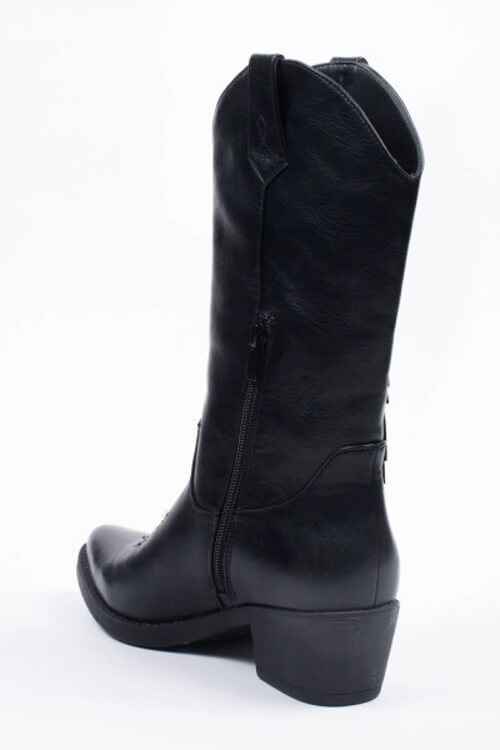Cowboy boots met fringes zwart