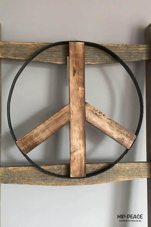 Peaceteken vintage industrieel