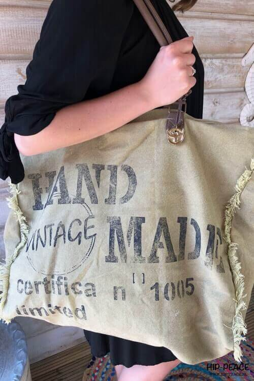 Canvas bag vintage look