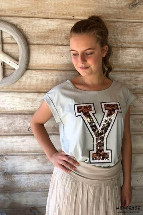 T'shirt lichtgroen Y