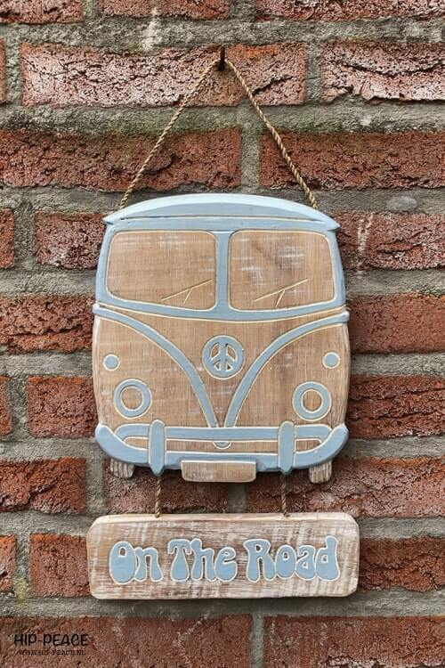 Hip-Peace busje hout VW blue