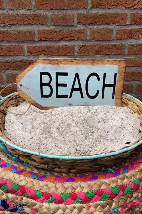Beach wegwijzer hout