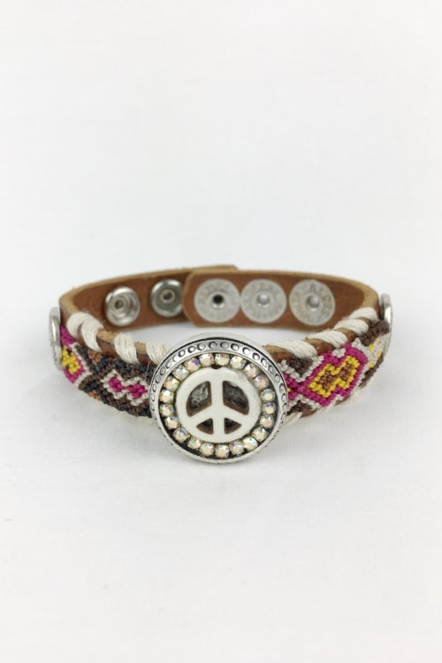 Waitz bracelet white peace